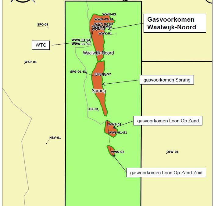 Informatie over gaswinning omgeving Waalwijk